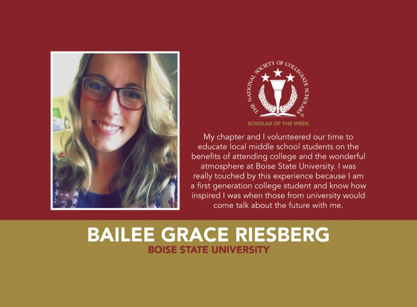Scholar of the Week: Bailee Grace Riesberg