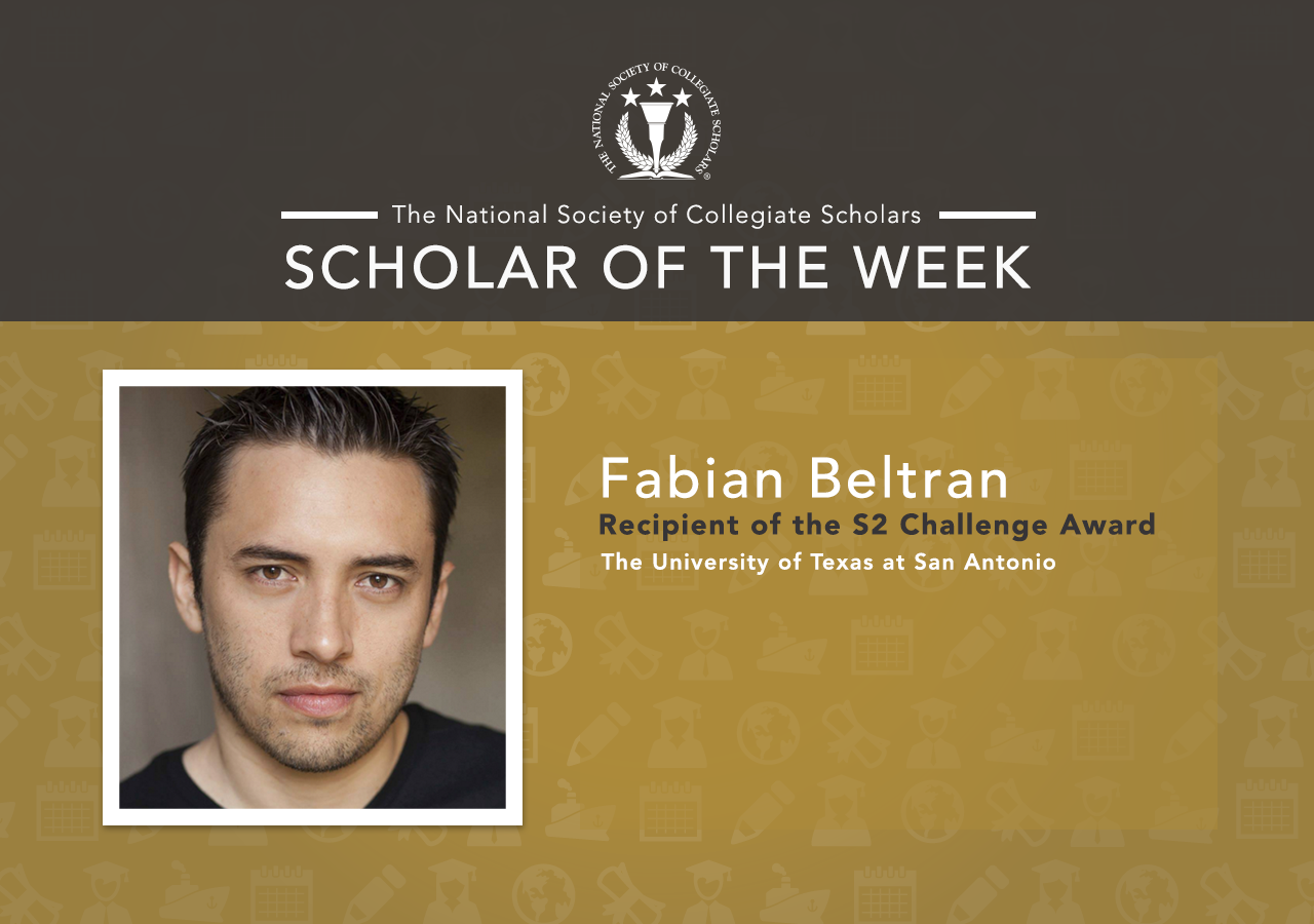 Scholar of the Week: Fabian from University of Texas San Antonio