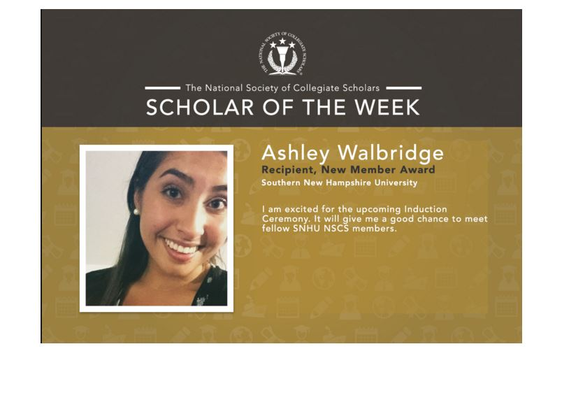 Scholar of the Week: Ashley from SNHU